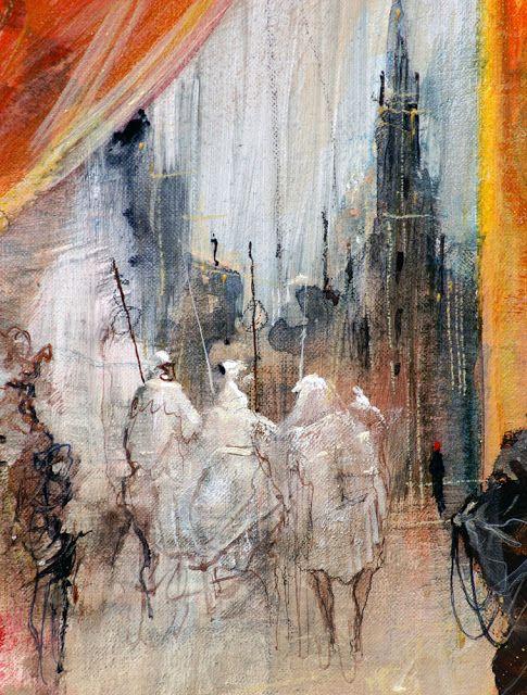 """Marcel Nino Pajot - """"Flûte, angélique et tambour""""  (détail)"""