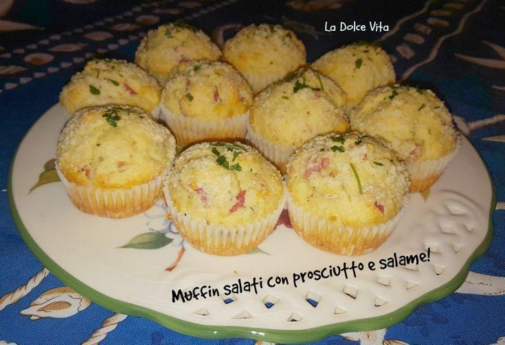 #Muffin salati con #prosciutto #salame e #pecorino!