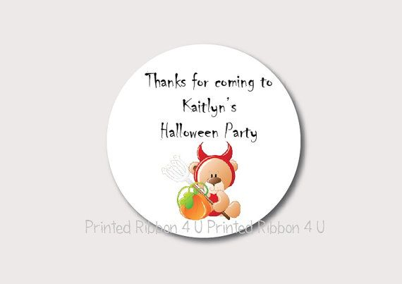 Items similar to 30 Round Personalised Halloween Party Trick Or Treat Thank  You Stickers UK Seller Fast Despatch on Etsy