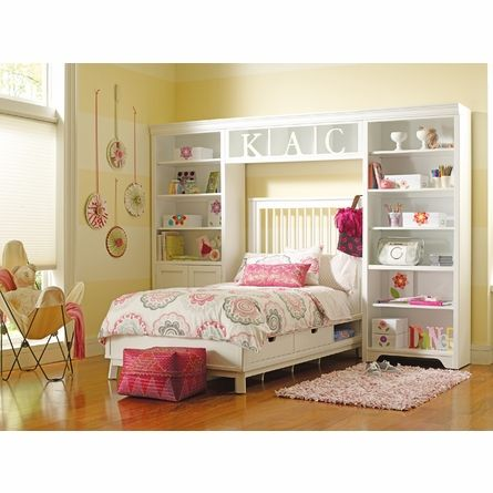 Dana Above Bed Wall Storage Unit with Doors by Young America by Stanley, Bookshelves, Furniture for Children