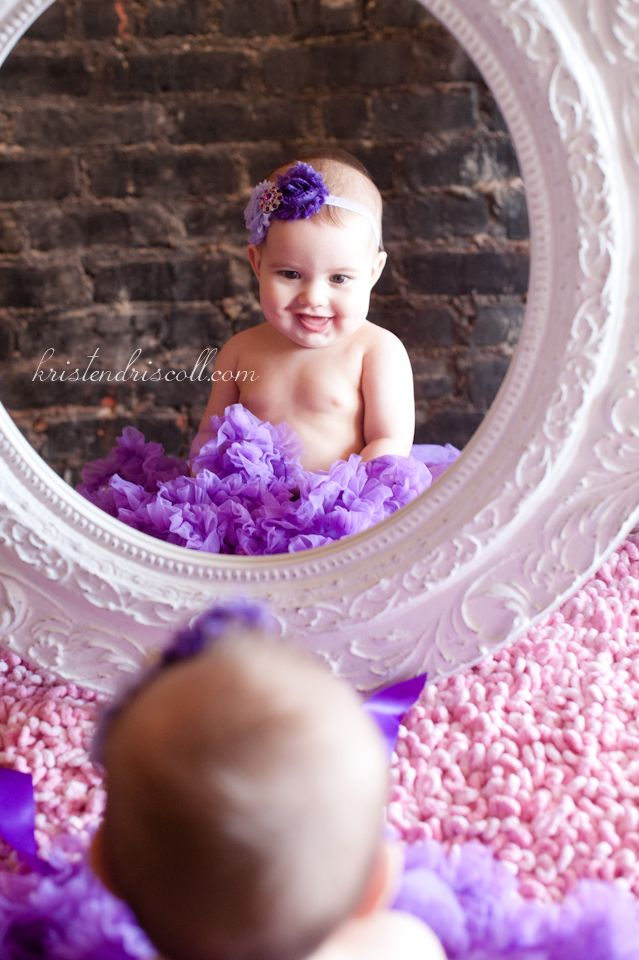 A great idea for a six month photo shoot since this is when babies start to sit up by themselves :)