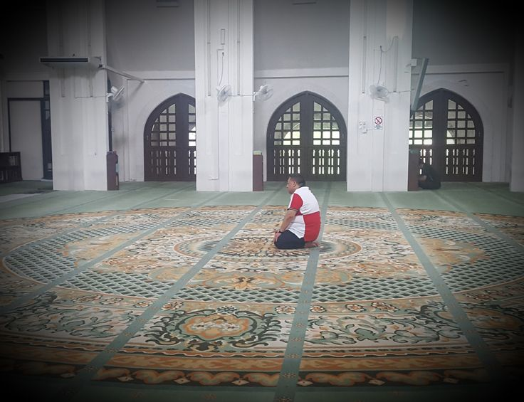 Seeking his peace of mind in the solitude of solah.