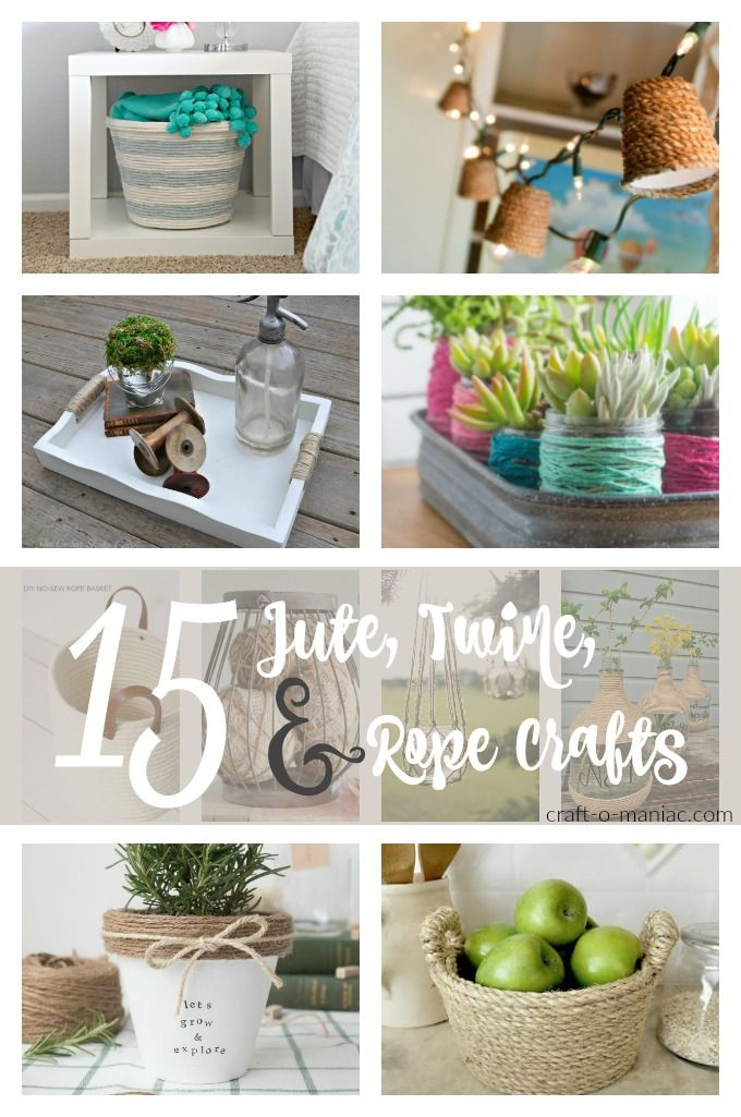 17 best images about home crafts on pinterest for Rope projects