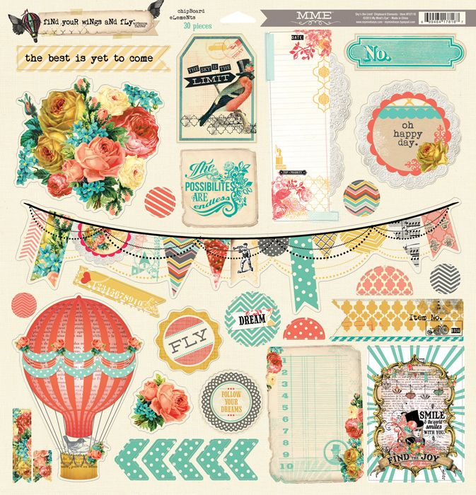 My Mind's Eye - Sky's the Limit Collection - 12 x 12 Chipboard Stickers at Scrapbook.com $5.99