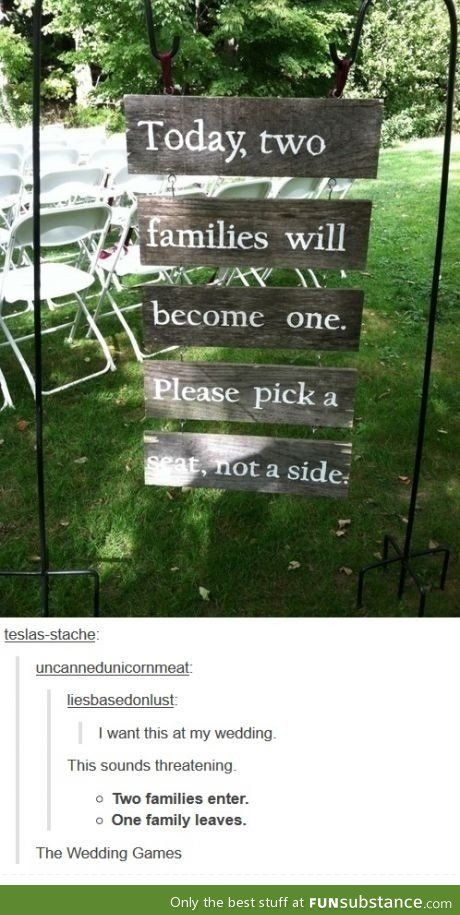 Wedding sign. like the use of stakes on each side. Make it to say anything (directional, wedding program, etc)