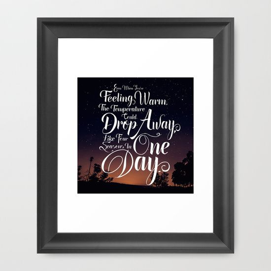 Four Seasons in One Day - Crowed House Lyrics typography against Photogrpahy
