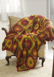 You'll want to make this free crochet afghan in time for autumn - it perfectly matched the leaves falling on the ground.