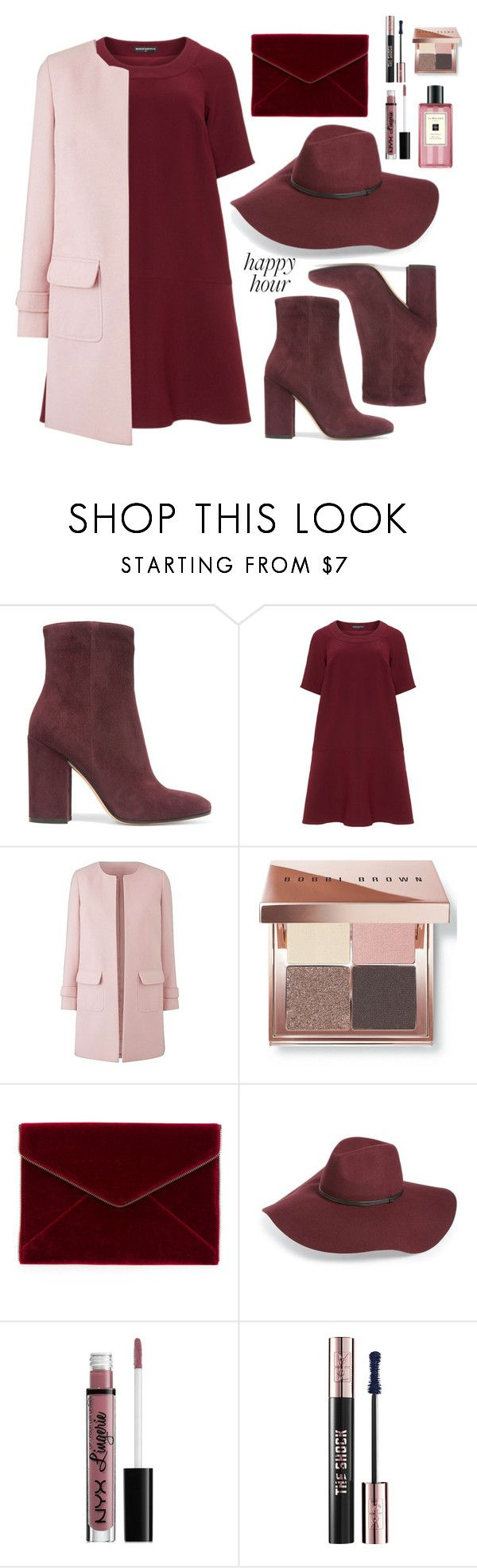"""""""#104"""" by lenabitkina ❤ liked on Polyvore featuring Gianvito Rossi, Manon Baptiste, Bobbi Brown Cosmetics, Rebecca Minkoff, Halogen, NYX, Yves Saint Laurent, Jo Malone and happyhour"""