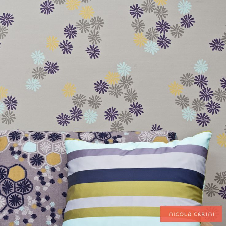 Minnie Daisy Sea, Cold Water Coral Fabric and co-ordinating stripe fabric www.nicolacerini.com