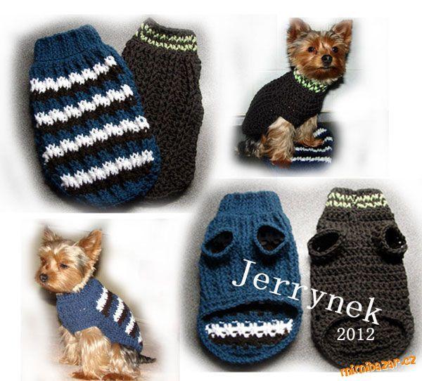 Návod jak na psí svetr ( Popis na různé velikosti)