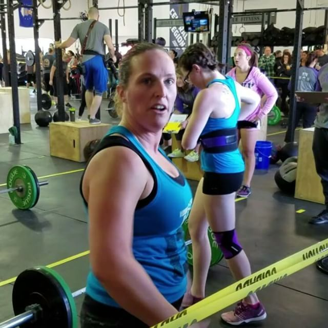 I hit a nee hang power clean PR yesterday at the Festivus Games! 115lbs! #crossfit #fitness #WOD #workout #fitfam #gym #fit #health #training #CrossFitGames #bodybuilding