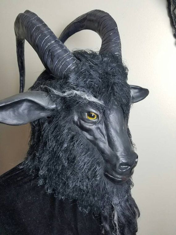 Black phillip goat mask