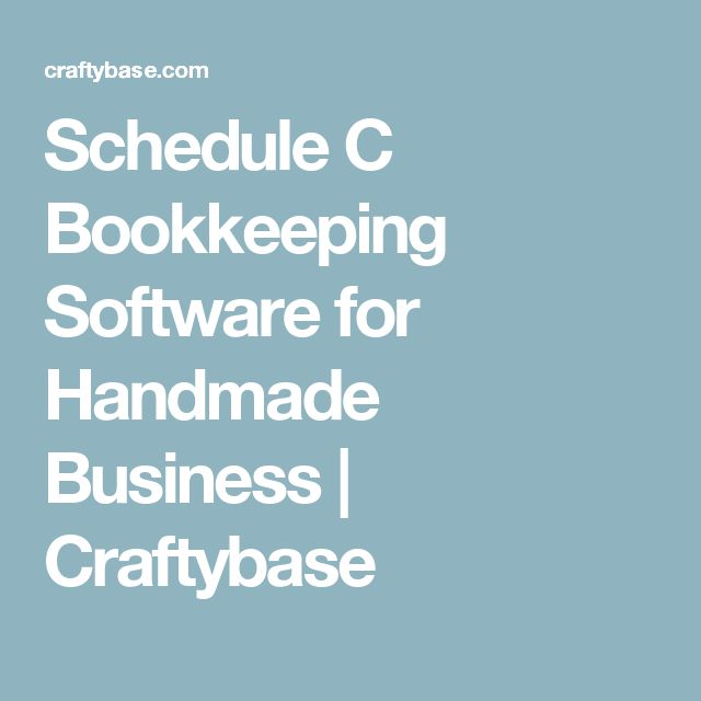 Schedule C Bookkeeping Software for Handmade Business  | Craftybase