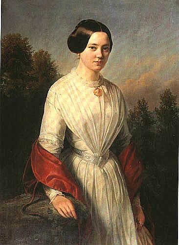 Wojciech Gerson - Portrait of a young woman  oil, canvas