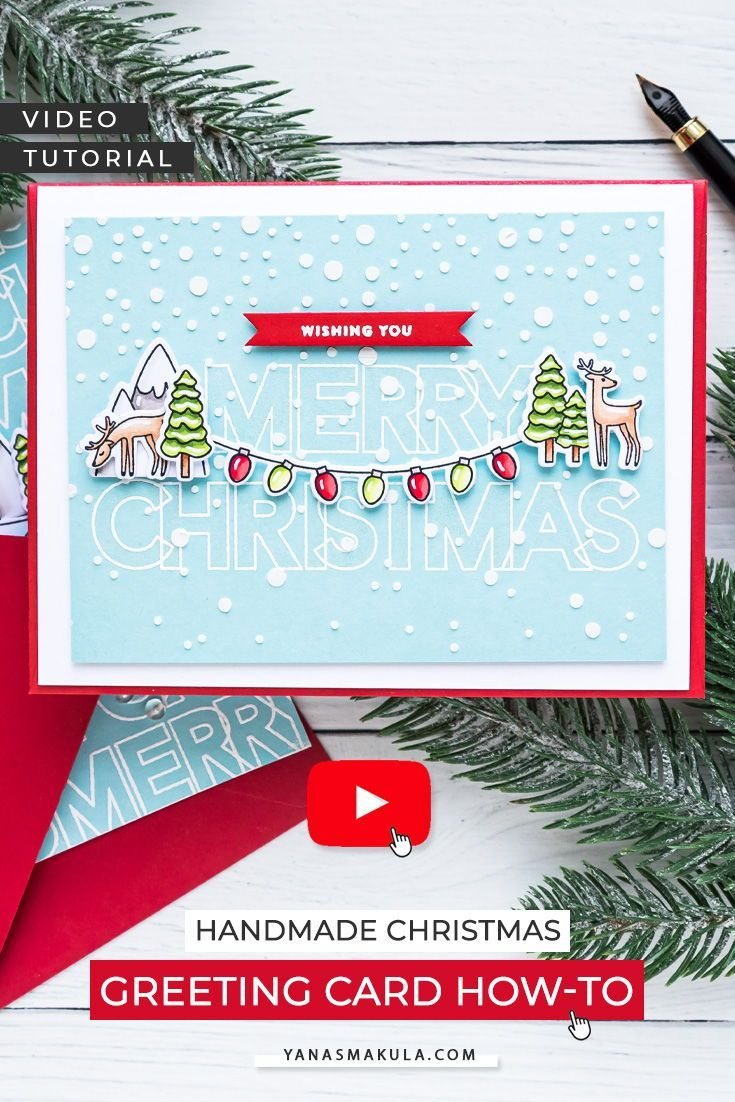 Simon Says Stamp Slimline Products On A2 Cards Video In 2020 Christmas Greeting Cards Handmade Cards Cards Handmade