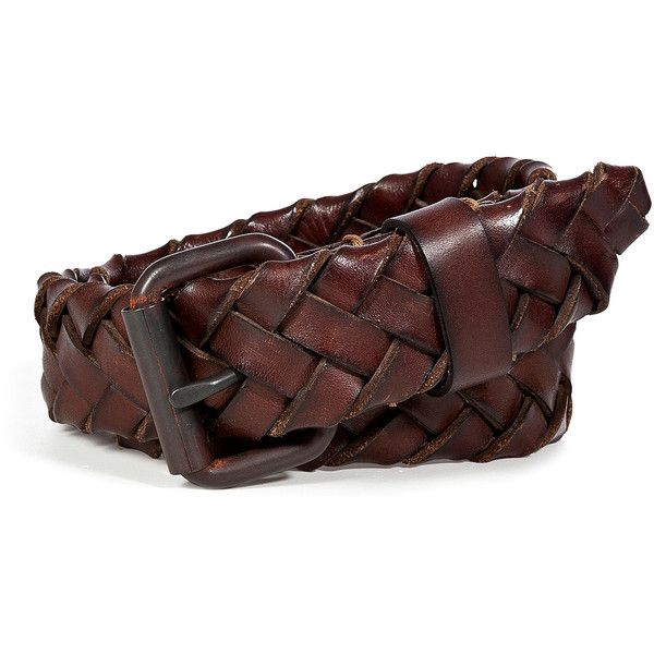 RALPH LAUREN BLUE LABEL Dark Brown Burnished Leather Braided Belt ($82) ❤ liked on Polyvore featuring accessories, belts, men, dark brown belt, 100 leather belt, dark brown leather belt, leather belt and real leather belts
