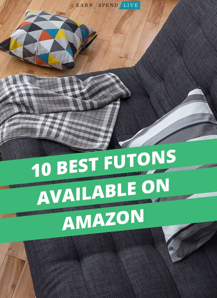 10 Best Futons Available on Amazon, futon reviews, best futons for your dorm room, comfortable futons
