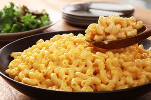 Velveeta mac & cheese. A little heavy on cheese to pasta ratio, could do more pasta for same amount of cheese.