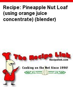 Recipe: Pineapple nut loaf