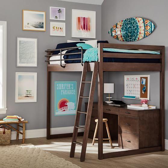 Waverly Loft Amp Storage Desk Set Loft Bed Loft Desk Bed