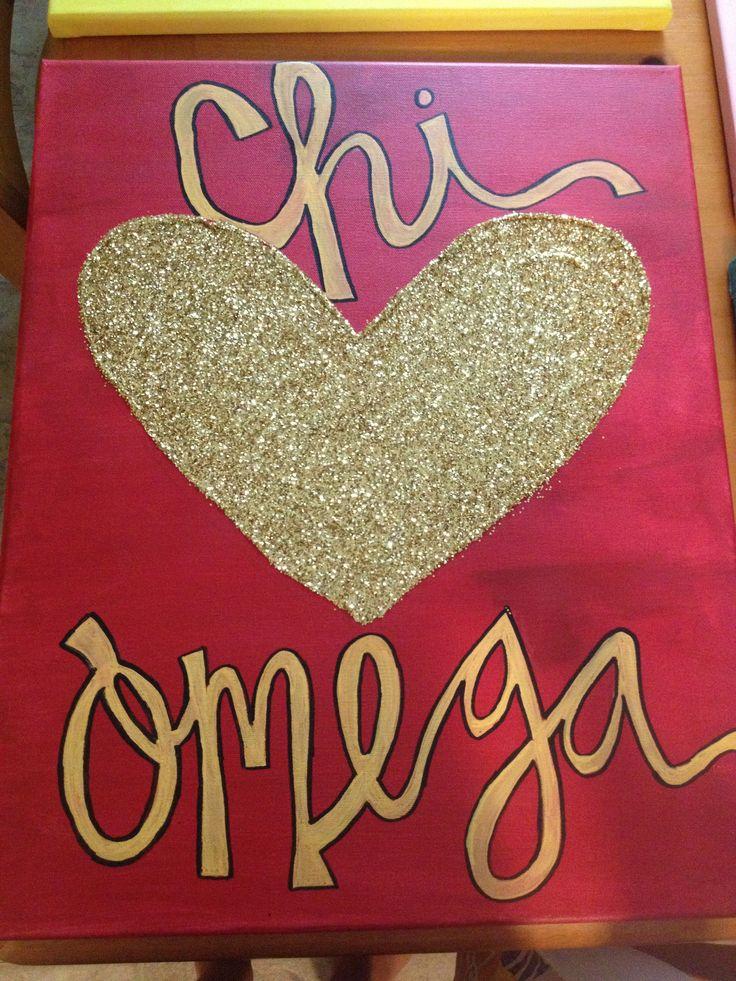 Chi Omega Canvas