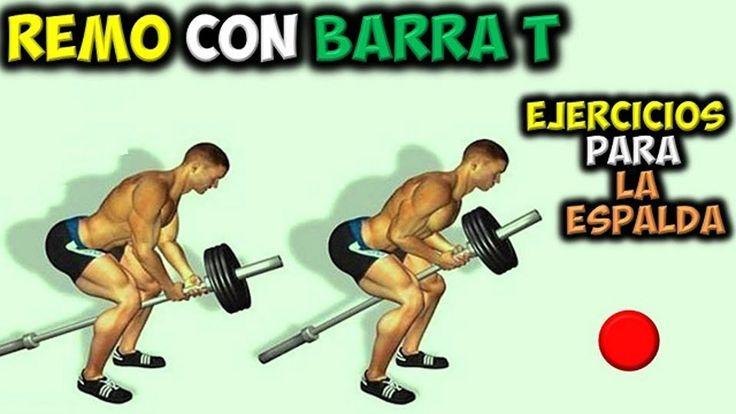 EJERCICIO Para LA ESPALDA | Remo con Barra T | Aumentar Musculos DORSALE...