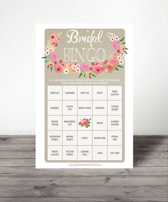 BOUGHT AND DOWNLOADED AS BRIDAL BINGO