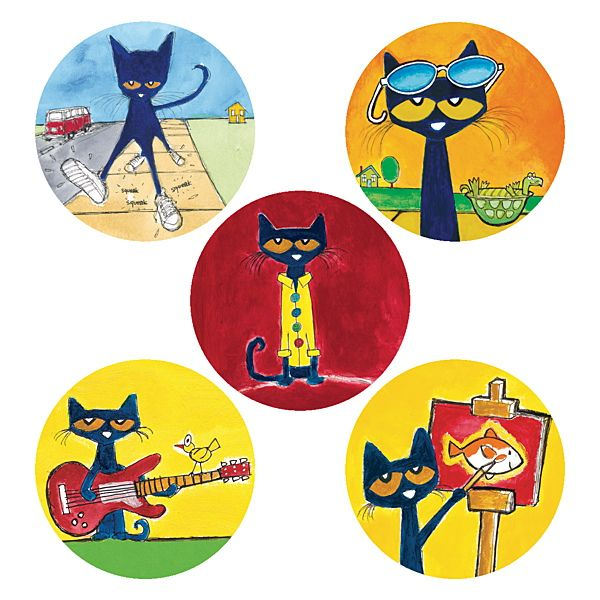 Pete The Cat Shoe Stickers