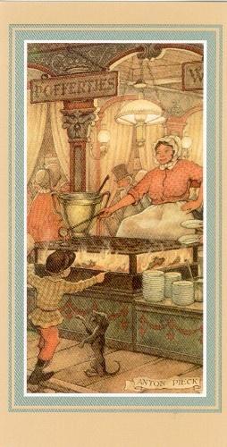 Anton Pieck   Poffertjers!  Little Dutch pancakes. Lekker!