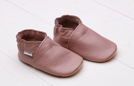d70b6d640703f Brown&Pink Baby Shoes, Leather Baby Shoes, Soft Sole Baby Shoes ...