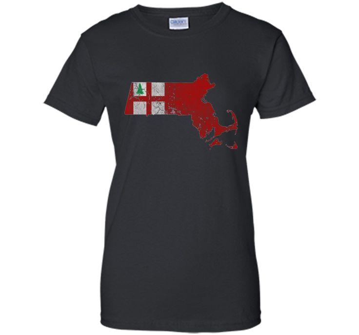 Flag of New England Massachusetts State T Shirt