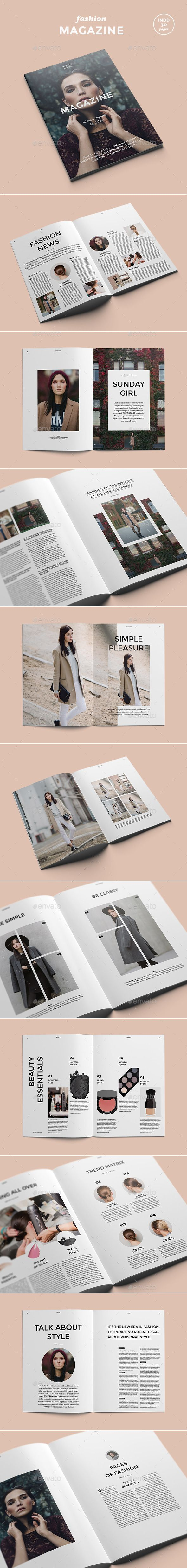 Fashion Magazine - Magazines Print Templates: