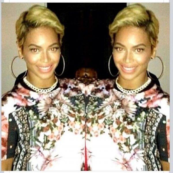 Beyonce Cuts Her Hair! Rocks a Blonde Pixie Cut | Her hair ...
