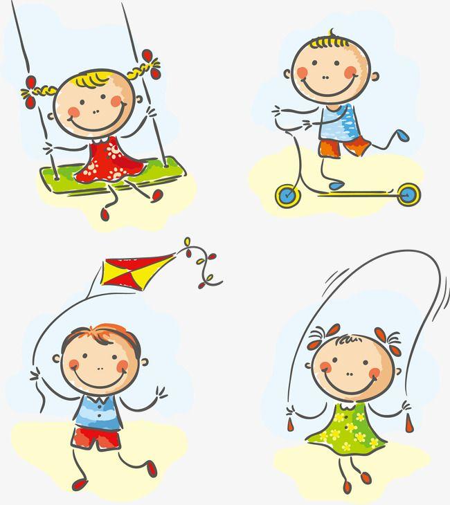 Cartoon Criancas Brincando Nas Imagens Em Movimento Imagens De