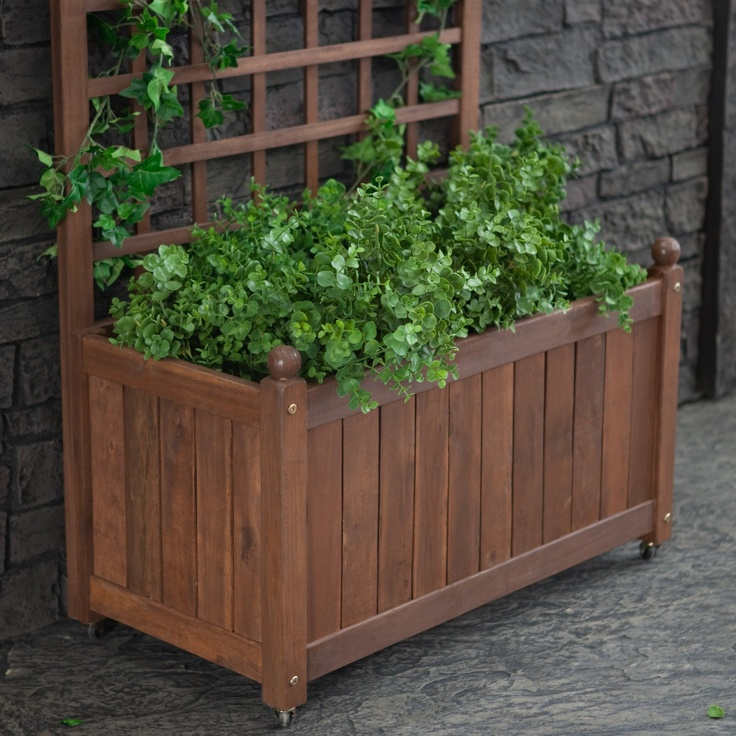 18 Best Trellis Planter Box Images On Pinterest Window Boxes Herb Garden Planter And Decks