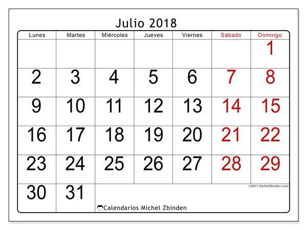 Calendario Julio 2018 62ld Calendario Junio Calendario