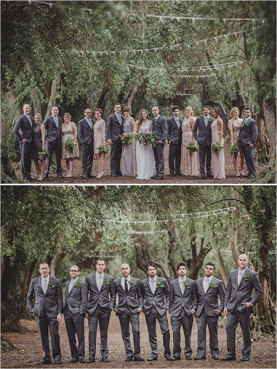 dashing grey groomsmen attire @weddingchicks