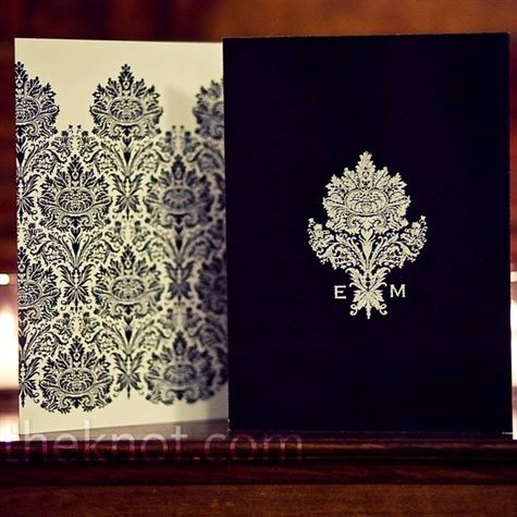 Black. White. Damask. Dam-ah-sk? Dam-ask?Wedding Ideas, Black And White, Approved Invitations, Wedding Invitations, Damasks Prints, Damasks Invitations, Black White, Black Damasks, White Weddings
