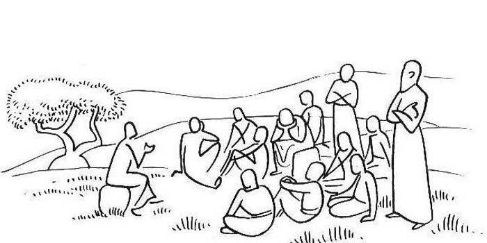 JESUS TEACHING APOSTLES :: Annie VALLOTTON