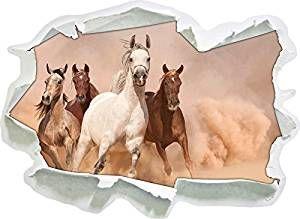 cavalli occidentali nel deserto, di carta 3D della parete di formato: 92x67 cm decorazione della parete 3D