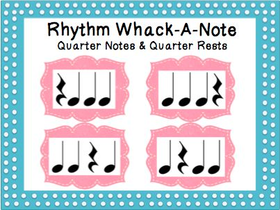 Rhythm Whack-A-Note: Quarter Notes & Quarter Rests