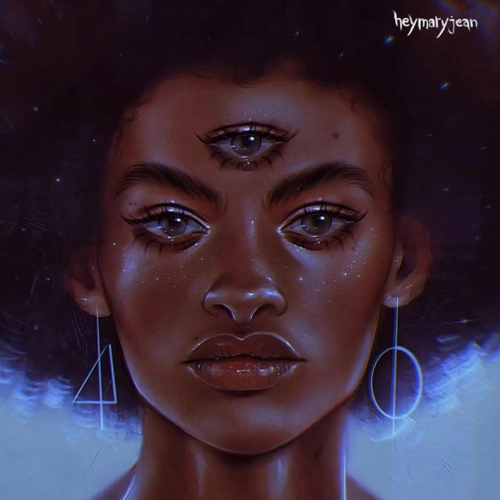Tre - Swipe ⬅️ for the process — I love painting three eyes 👀 and I really  enjoyed drawing the full eyebrows. … | Third eye art, Eye art, Digital  painting portrait