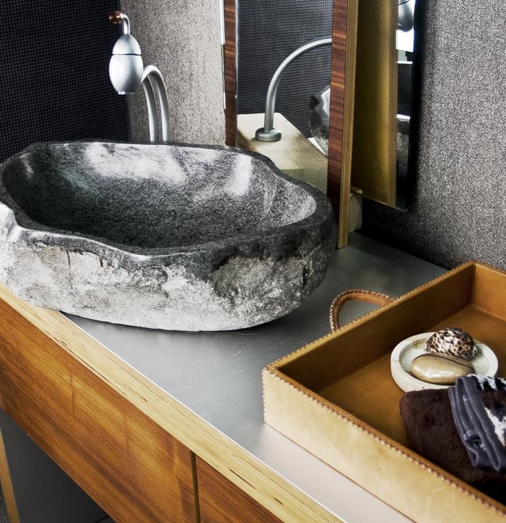 Stone basin, bathroom ideas.