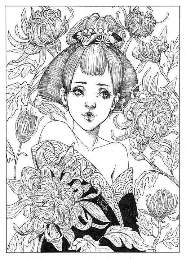 Precious Chrysanthemum by JowieLimArt.deviantart.com on @DeviantArt