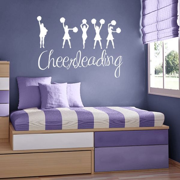 67 best images about cheerleading on pinterest sports for Cheerleader wall mural
