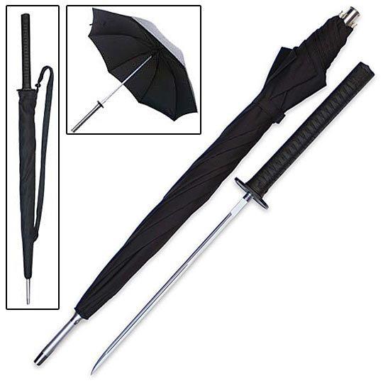 Sword Cane - Samurai Katana Umbrella w/ Hidden Blade   True Swords - make into lace umbrella