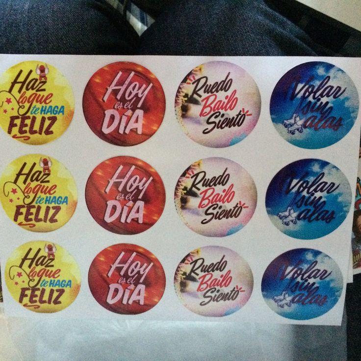Stickers con frases Soy Luna MVD Soluciones Gráficas
