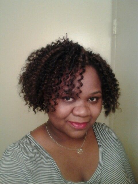 Crochet braids cut short using free tress hair extensions