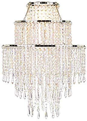 Waneway Large 3 Tiers Beads Pendant Shade Ceiling Chandelier
