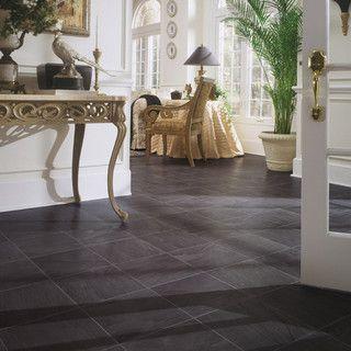 Black Slate Laminate Floor   Traditional   Laminate Flooring   By DuPont  Quick Temporary Bathroom Fix